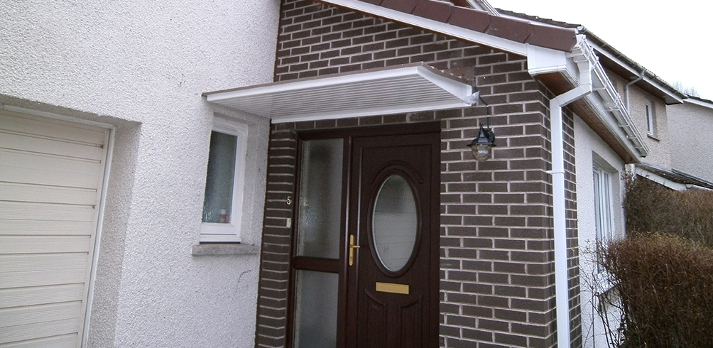 & Swish range of ultra-stylish door canopies : The Border Canopy Company